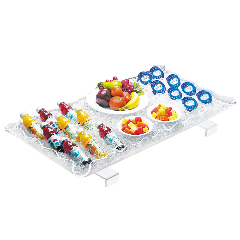"Cal-Mil 989-12 Ice Display Tray w/ Brackets & Drain Kit, 29 x 18 x 3"" High"