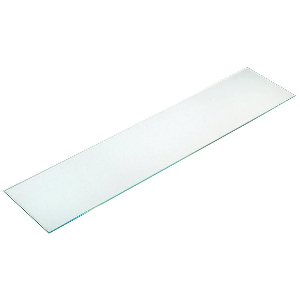"""Cal-Mil C732GLASS Glass Shelf for 1464 & 1467 Pillar Risers, 32"""" Wide x 7"""" Deep"""