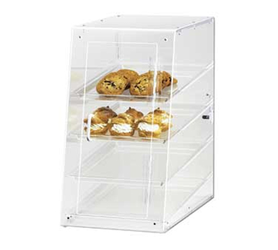 Cal-Mil 1012-S Econo Case w/ Slant Self Serve Front & 4-Tray, 13.5 x 21 x 24.5-in