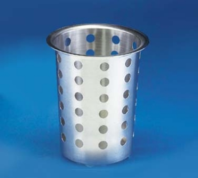 "Cal-Mil 1017-39 Perforated Cutlery Cylinder, 4.5 x 5.5"" High"