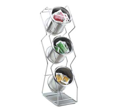 Cal-Mil 1025-3S 3-Hole Vertical Wire Condiment Organizer w/ 3-Solid Cylinders