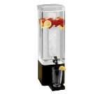 Cal-Mil 1112-3A-13 3-Gallon Square Acrylic Beverage Dispenser w/ Black Metal Base