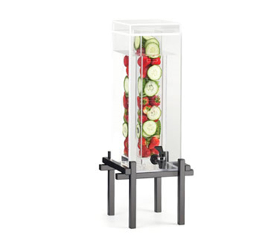 Cal-Mil 1132-3INF-13 3-gal Beverage Dispenser - Drip Tray, Acrylic, Black
