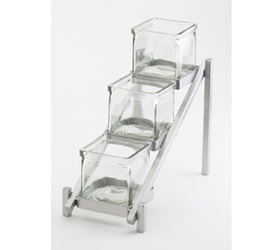 Cal-Mil 1149-74 3-Tier Jar Display - Glass Jars, Silver