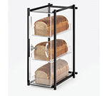 Cal-Mil 1155-13 3-Tier Bread Case - Black