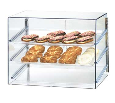 Cal-Mil 1202 Econo Display Case w/ (3) 18 x 26-in Trays & Slanted Front
