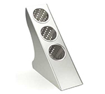 Cal-Mil 1232 In Line Cutlery Holder w/ 3-Tiers, Brushed Stainless ABS
