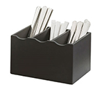 Cal-Mil 1244-96 3-Compartment Cutlery Holder - Midnight Bamboo