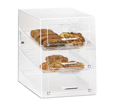 Cal-Mil 124 Countertop Display Case w/ 3-Self Serve Front Doors & 3-Trays