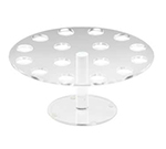 Cal-Mil 1265 Clear Acrylic Cone Pedestal, 12-in Diameter x 7-in High