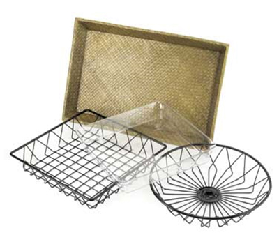 Cal-Mil 1290TRAY Bamboo Basket For 1290 Tray Rack, 12 x 18-in