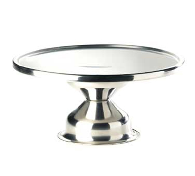 "Cal-Mil 1308 Stainless Steel Cake Stand, 12"" Diameter x 7"" High"
