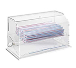 Cal-Mil 1310 Clear Acrylic Econo Straw Dispenser For Unwrapped Straws