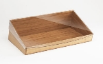 Cal-Mil 1332-12-60 Bamboo Acrylic Tray & Bin Insert w/ Lid for 1330-12-13, 12 x 20""