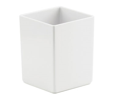"Cal-Mil 1391-15M Cater Choice Box - 5x5x6"", Melamine, White"