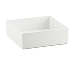 "Cal-Mil 1393-15M Cater Choice Box - 10x10x3"", Melamine, White"
