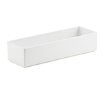 "Cal-Mil 1396-15M Cater Choice Box - 5x15x3"", Melamine, White"