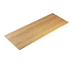 "Cal-Mil 1435-1232-60 Rectangular Tray Riser Shelf - 12x32"", Bamboo"