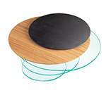 "Cal-Mil 1443-12-96 12"" Round Display Riser Shelf - Midnight Bamboo"