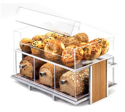 Cal-Mil 1471-SET Eco Modern Merchandiser Set - Merchandiser, Bin, 3-Drawer Bread Box