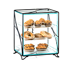 Cal-Mil 1501-13 Display Case w/ (3) 10 x 14-in Tray, 16 x 12 x 19-in H, Black Wire