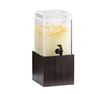 "Cal-Mil 1527-1-96 1-1/2-gal Square Beverage Dispenser - 1-1/2x8-1/4x9-3/4"", Midnight"