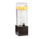 Cal-Mil 1527-3-96 3-gal Square Beverage Dispenser - Acrylic, Midnight