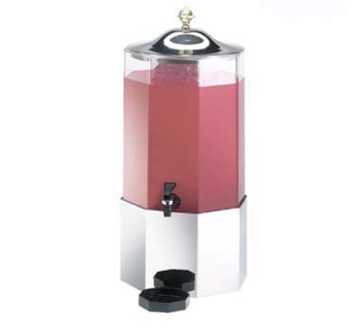 Cal-Mil 152-SS 3-Gallon Octagon Beverage Dispenser w/ Stainless Base & Lid
