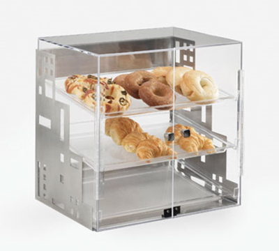 "Cal-Mil 1623-55 Self Serve Square Display Case - 19x16x19"", Stainless Steel"
