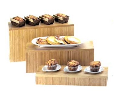 "Cal-Mil 166-3-60 Bamboo Rectangular Display Riser, 20 x 7 x 3"" High"