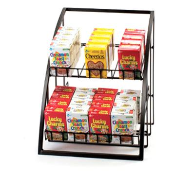 "Cal-Mil 1702-13 Merchandiser w/ Wire Shelves, 13.5 x 15 x 16.5"", Black"