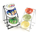 """Cal-Mil 1712-10-13 Mission Style Bowl Rack Only - Holds 10"""" Bowls, Black"""