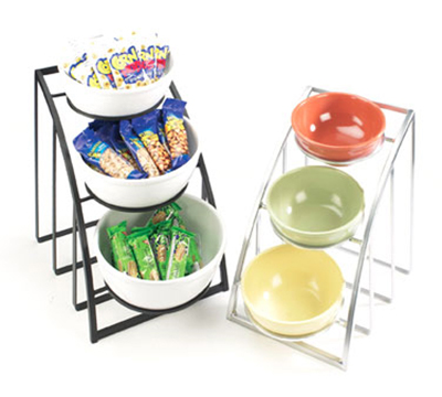 """Cal-Mil 1712-8-13 Mission Style Bowl Rack Only - Holds 8"""" Bowls, Black"""