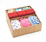 Cal-Mil 1714-60 Coffee Amenity Organizer w/ 9-Compartments, Bamboo