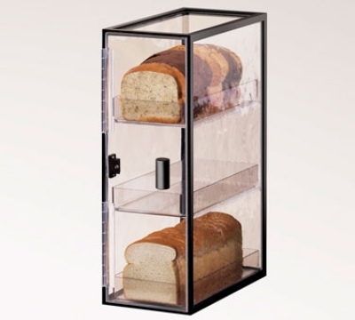 Cal-Mil 1720-3 3-Tier Vertical Bread Case w/ Wire Frame & Textured Acrylic Body