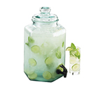 Cal-Mil 1745 2-Gallon Glass Octagon Fusion Dispenser, 9-in Diam x 18-in High