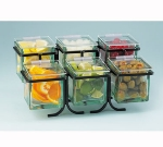 Cal-Mil 1811-N Lid w/ Notch & Soft Hinge For 4 x 4-in Glass Jars