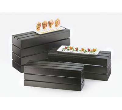 """Cal-Mil 1943-3-96 Rectangle Crate Riser - 20x7x3"""", Midnight"""
