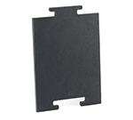 "Cal-Mil 2035-212-13 12"" Bread Board - Middle, Black"