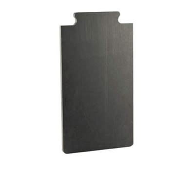 "Cal-mil 2035-112-13 12"" Bread Board - Male End, Black"