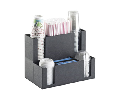 Cal-Mil 2041 Coffee Station Organizer - For Cups, Lids, Straw, Stir-Sticks