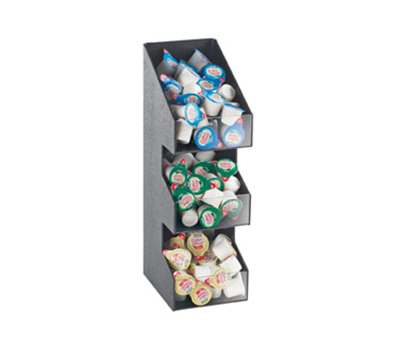 Cal-Mil 2053 3-Tier Classic Condiment Packet Display - Black