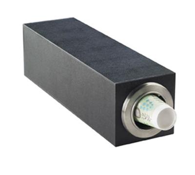 Cal-Mil 2055 Single Slot Classic Cup Dispenser - Black