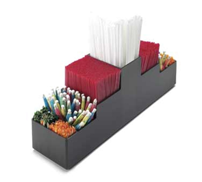 Cal-Mil 213 5-Section Straw Organizer, Black