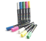Cal-Mil 240 5-Marker Pens For Write On Board, Blue, Yellow, Pink, Green & White