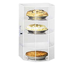 "Cal-Mil 252 Countertop Display Case w/ Hex Front & (3) 12 x 12"" Shelves"