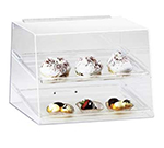 "Cal-Mil 254 Countertop Display Case w/ Rear Door & (2) 10 x 14"" Trays, Clear"