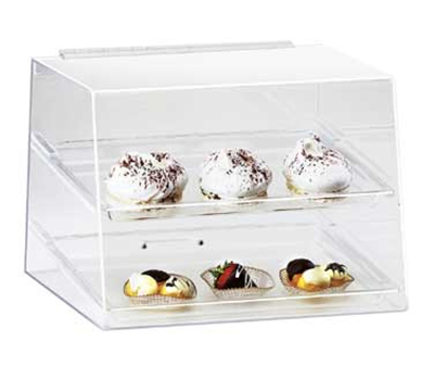 Cal-mil 254 Countertop Display Case w/ Rear Door & (2) 10 x 14-in Trays, Clear