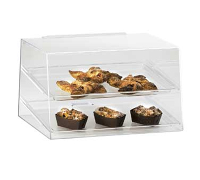 Cal-mil 255 Countertop Display Case w/ Rear Door & (2) 13 x 18-in Trays, Clear