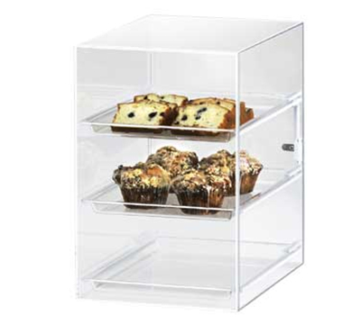 Cal-Mil 257 Countertop Display Case w/ Straight Front & (3) 10 x 14-in Trays